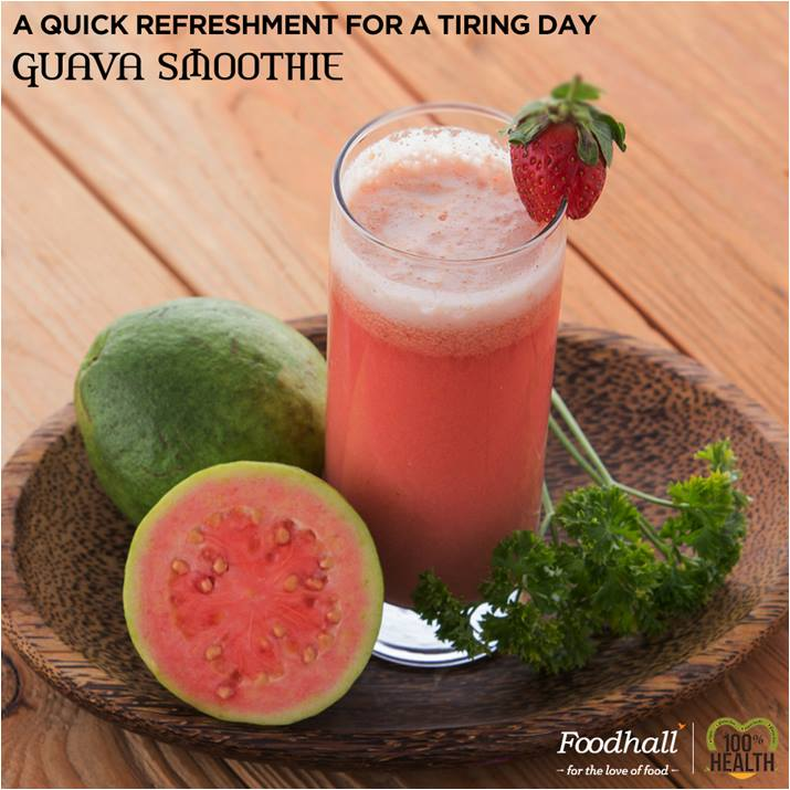 A fiber-rich pick, the Guava smoothie is an excellent choice for a quick fix.   Try an array of refreshing smoothies with our smoothie maker available exclusively at @Foodhall.
