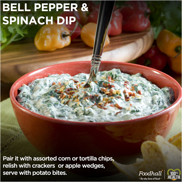 This Bell Pepper & Spinach Dip is a delight for every food lover. Pair with some freshly baked nachos or beetroot chips & enjoy! Try & buy some at Foodhall Today!