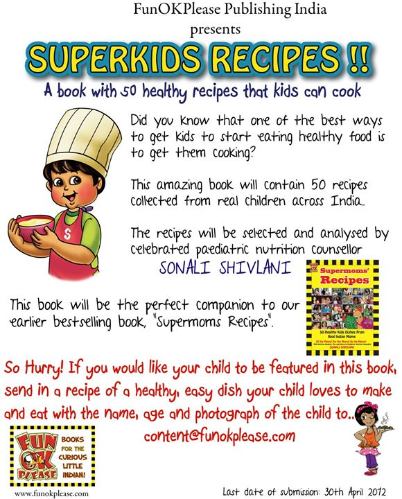 Share your 'Super kids Recipes'