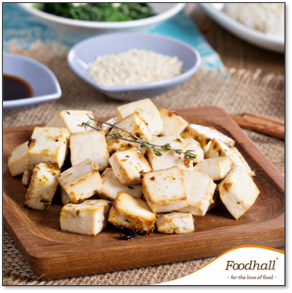#WeightLossTip:  Replace your portion of soft paneer with some baked tofu that is marinated with your favourite herbs and spices!