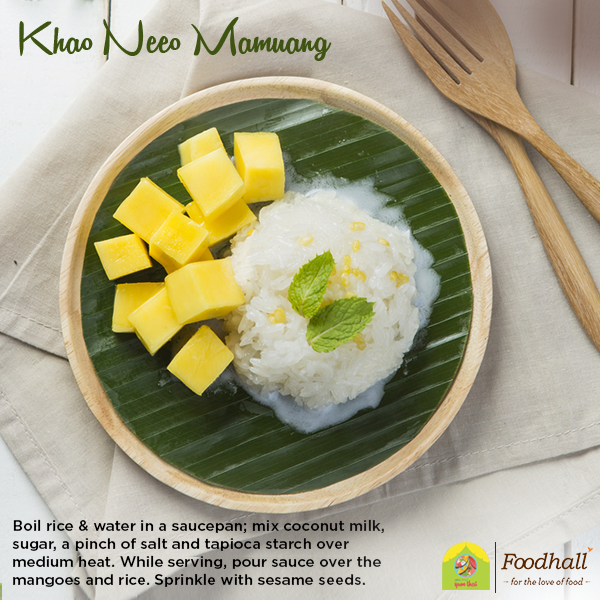 Looking to finish your Thai meal with a traditional dessert? Try our quick recipe for the Khao Neeo Mamuang!
