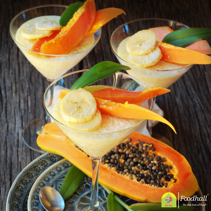 The mix of salty and sweet in the tapioca pudding is typical of many Thai dessert recipes. Add sliced fruits for a sweet garnish and relish the twist of fruity flavours!