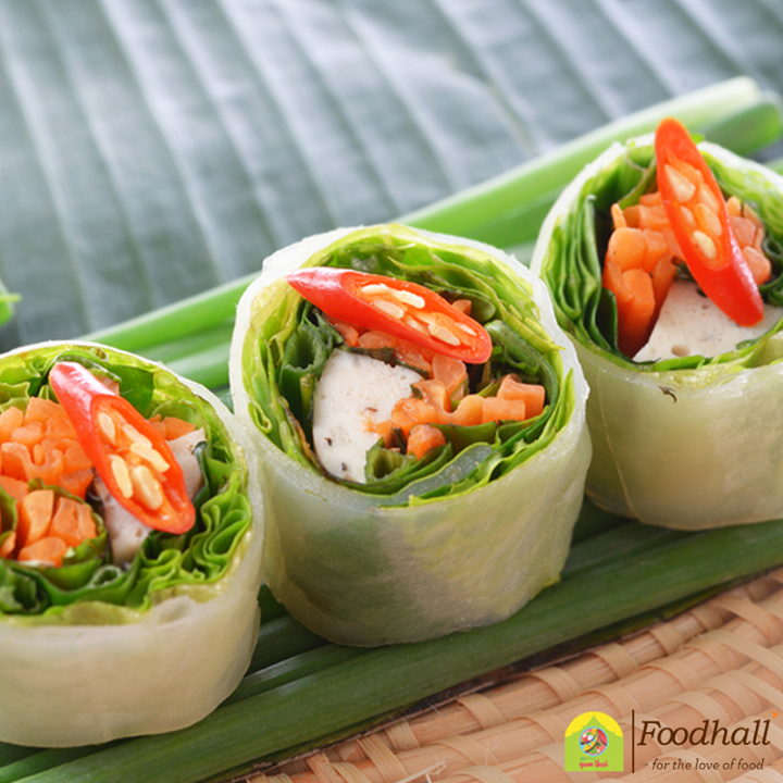 These vegetable rice paper rolls are a tasty way to use up leftover vegetables for a quick healthy meal!