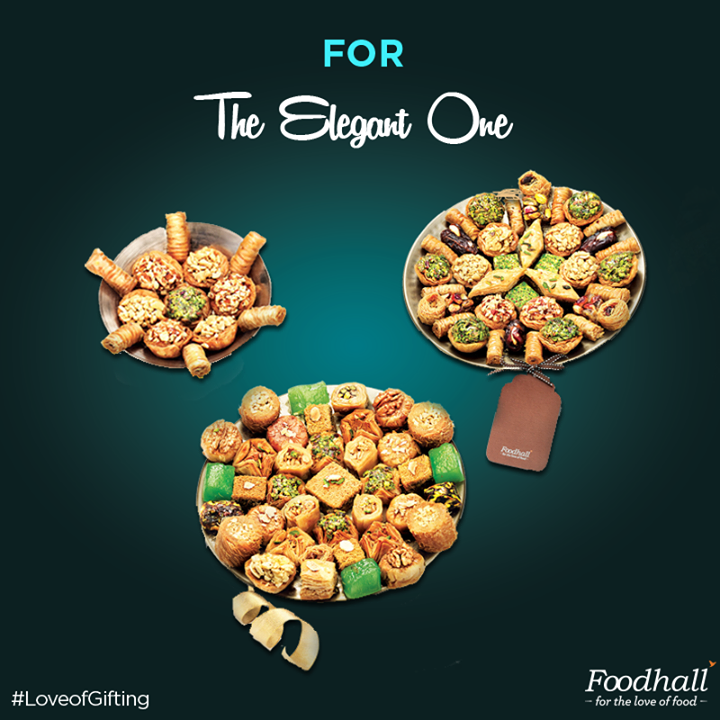 Spread the love this festive season with our finest baklava pieces beautifully arranged on a gold platter! #LoveofGifting