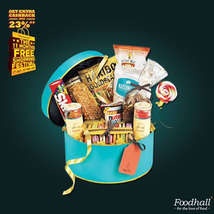 This hampers selection of mouth watering treats is perfect gift for your loved ones and for this festive season! Come be a part of Future Group's Shopping Festival  and get an assured cashback for the next 11 months.