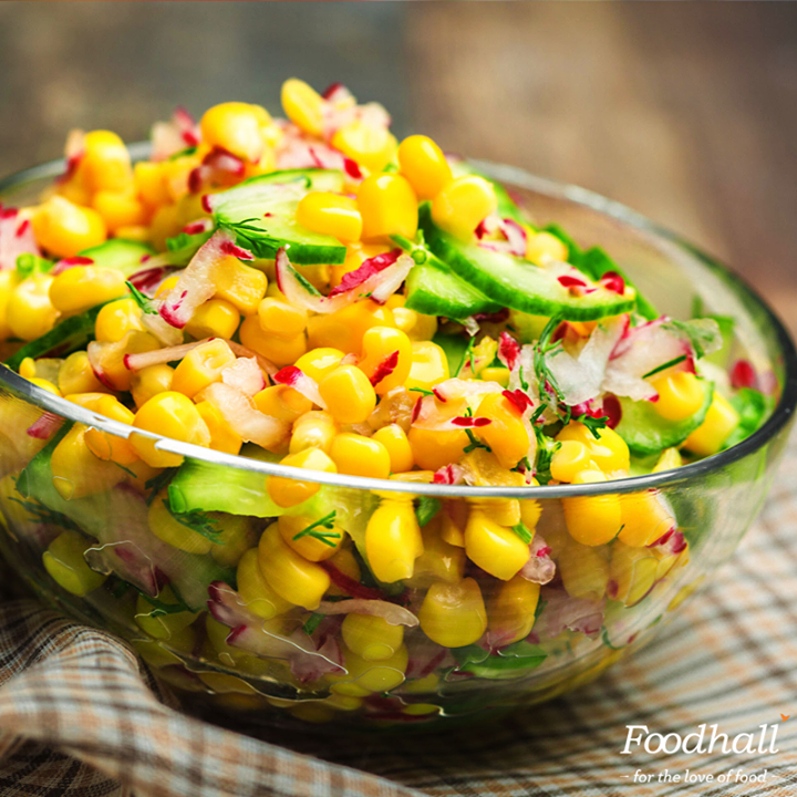 Toss corn, sriracha, cheese, lime juice and bell peppers in olive oil for a quick party fix. This has a flavourful punch  and is the perfect last-minute side!