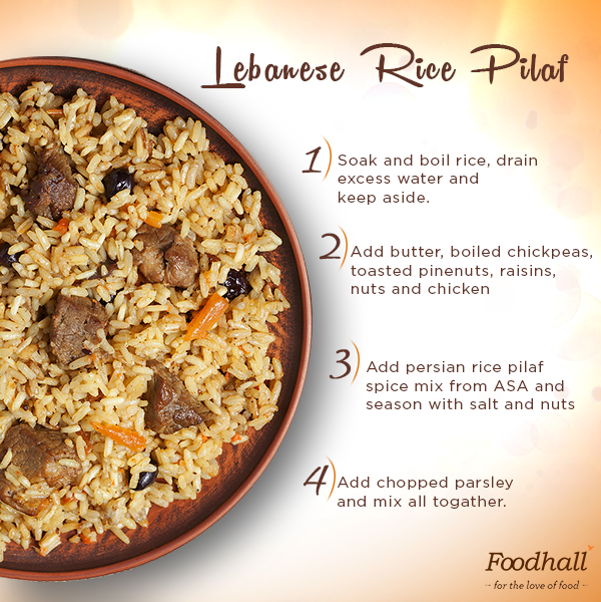 Master this recipe of a Lebanese Rice Pilaf topped with fresh parsley for your next get-together and let those compliments flow!