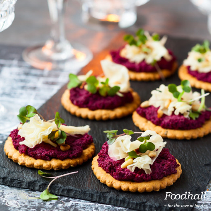 Throwing a party but not sure what to serve?  Blend cooked beetroot with walnuts, garlic, lemon juice to whip up a creamy beetroot pate. Spread it on canapes and top it with cheese for an easy yet stylish entree for your next soiree!