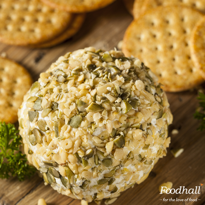 Cheese Balls are always a party favourite!   Stir in some herbs, chopped chilli, spices, nuts with cream cheese. Shape it into a ball and coat it with herbs and toasted nuts to ensure a memorable party!