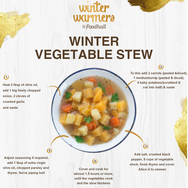 Isn't it nice to have something warm and comforting on a chilly night? Our version of a vegetable stew is quick and light, making it perfect for the weather.