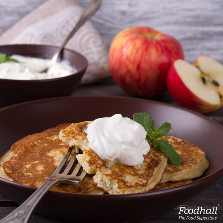 Start your mornings with these apple crepes.  Whisk cooked apples with brown sugar and our whole wheat crepe batter, spread it on the pan, drizzle with caramel sauce and whipped cream, once ready. These crepes not only make a delicious breakfast but are a wonderful dessert too!