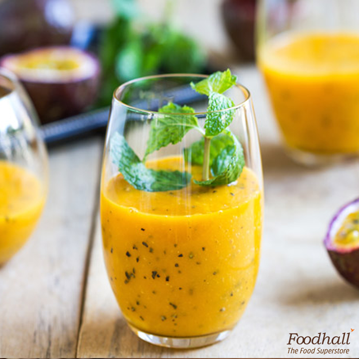 Brighten up your day with a passion fruit, coconut smoothie.  Dollops of greek yogurt blended with passionfruit and coconut, this is the ideal breakfast that will keep you going all day.