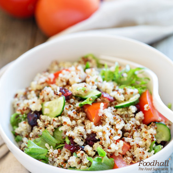 Healthy & delicious, this Greek salad with quinoa, cherry tomatoes, cucumbers, red onion, kalamata olives, and feta cheese is something you will love at anytime!   Take it to your next picnic or include it in your next lunch spread to add some fresh goodness to your meal.