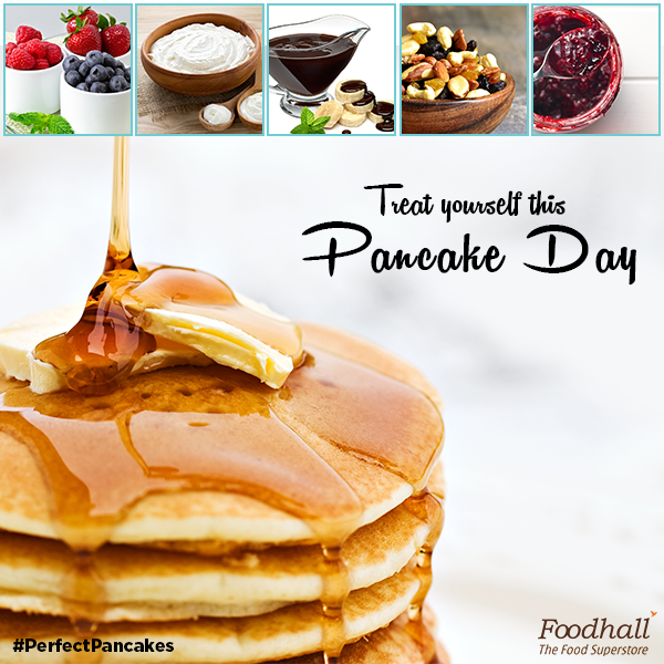 Dive into these fluffy & delicious pancakes to relive your childhood memories. Our #PerfectPancakes are topped with maple syrup and fruits! What about yours?