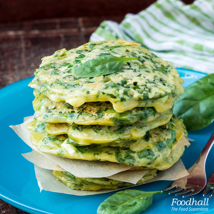 Why stop at sweet pancakes? Whip up some savory green smoothie pancakes for breakfast. Whisk in spinach, almond milk, banana and flax seeds, fry them until golden and serve them with our zingy blue cheese dip.