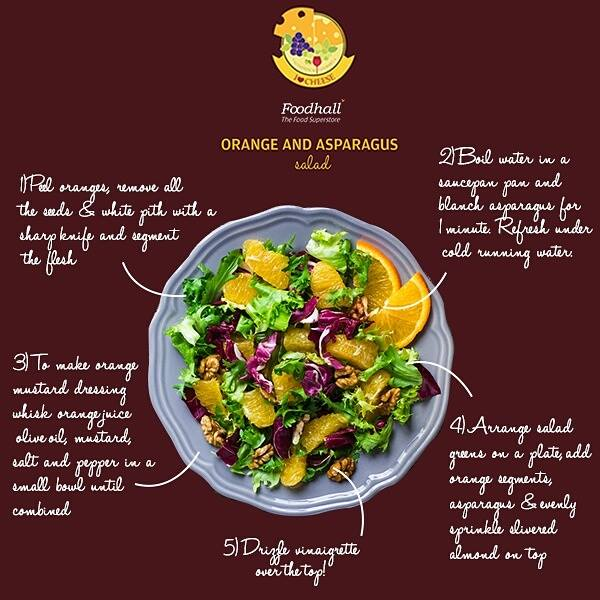 Try this heavenly marriage of citrus and asparagus in a salad full of fresh flavours, crunch and textures. Tell us about your favourite salad combination in comments below.