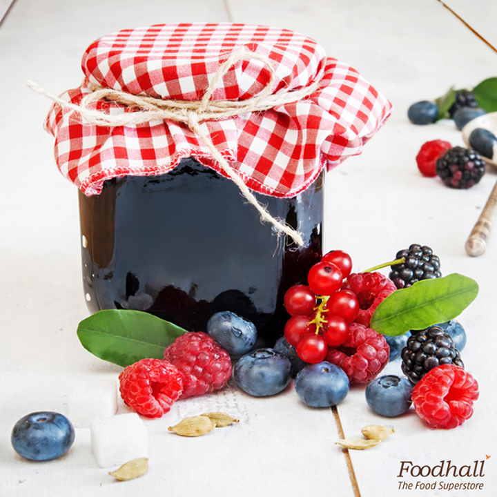 Make the most of luscious berries with this quick berry chia jam! Simmer down blueberries, raspberries, mulberries with sugar and chia seeds together. This super simple jam is perfect for a slice of whole wheat toast or for your greek yogurt parfait.