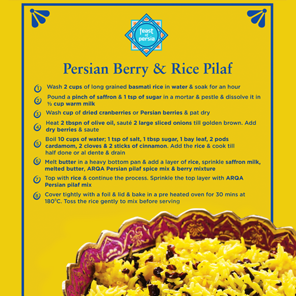 Master this recipe of a Persian Berry & Rice Pilaf topped with our ARQA Persian spice mix for your next get-together!