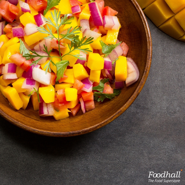 Your favourite fruit gets a Mexican makeover at Foodhall this month.  Pair this raw mango salsa with tacos or crunchy nachos and make snacking a great affair.