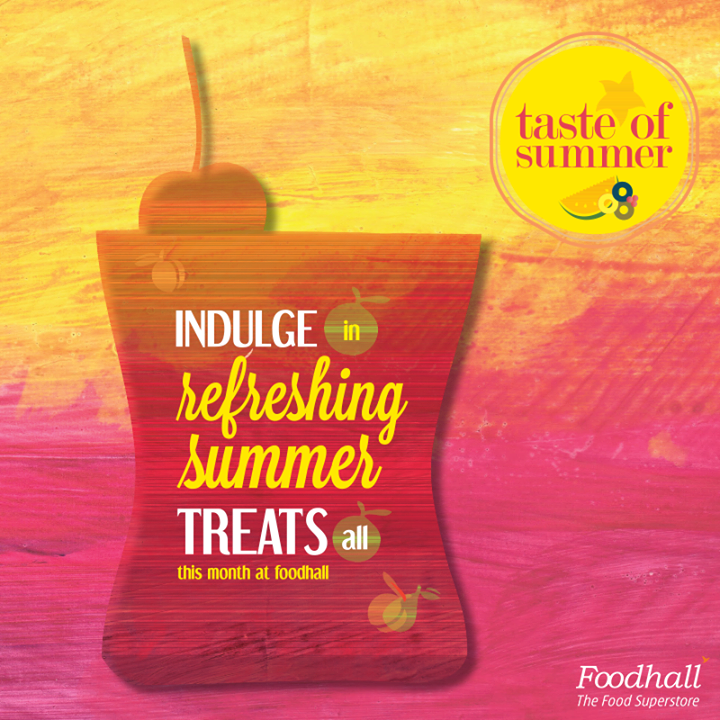 We are summer ready!  Lose yourself to cool treats and beat the heat all this month at Foodhall.