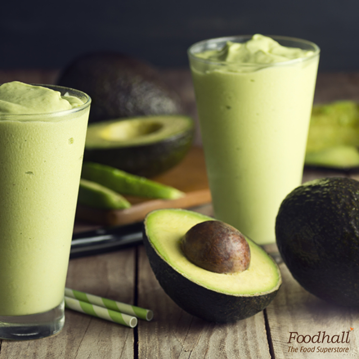 Green has never tasted this good!  Blend 1 ripe avocado, 1 cup milk, ½ cup vanilla yoghurt, 2 tbsp honey and a few ice cubes in a smoothie maker and serve chilled.