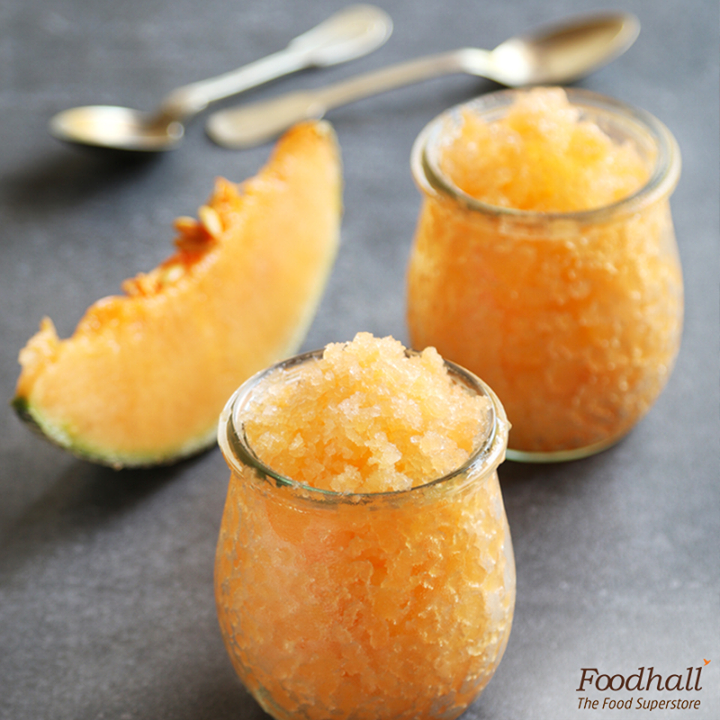 Make the most of cantaloupe this summer.  Blend 2 cups coarsely chopped cantaloupe, 1/4 cup sugar and 1/2 tbsp fresh lemon juice; pour the mixture in a metal pan and freeze until it becomes a firm slush. Scrape with a fork and serve in jars.