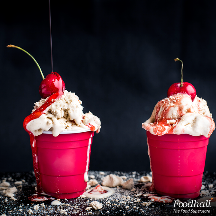 Give ice creams a new avatar with our wide range of delectable sundae toppings. Choose from coffee meringue drops and nougatine to glazed cherries and syrups at Foodhall's DIY sundae station. What's your favourite sundae topping?