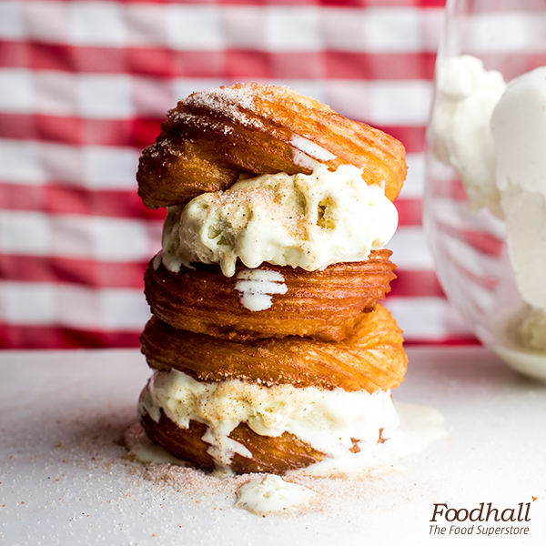Rich ice cream & fresh churros; indeed a match made in heaven . Bite into this perfect decadent treat at Foodhall.