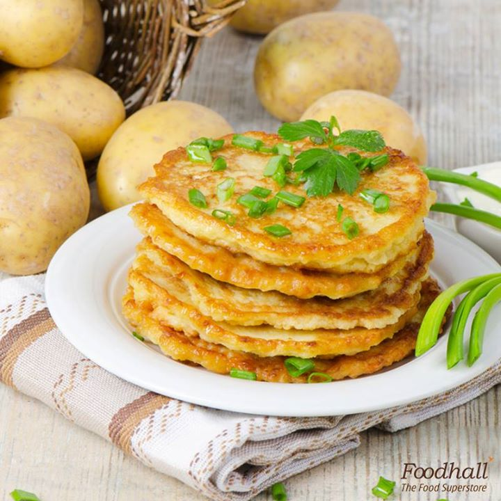 Something new for your Sunday brunch!  Whisk together 4 cups mashed potatoes, ½ cup chopped onion, 1 egg and ¼ cup flour. Scoop the batter onto a pan, flatten it with a spatula and cook until potato pancakes turn golden brown.