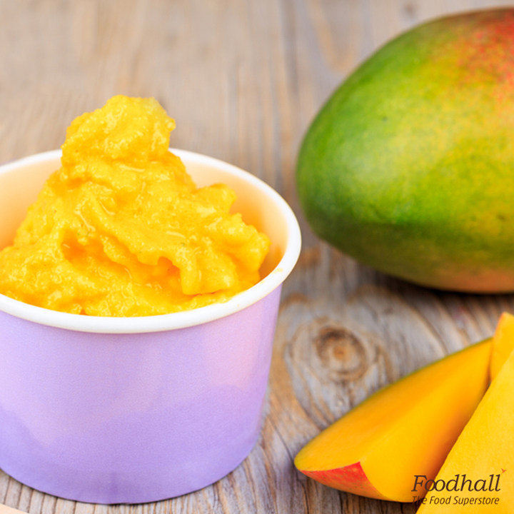 A summer delight that is a hit among the little ones.  Blend together 4 ½ cup diced mango, ½ cup Greek yoghurt and 1/3 cup brown sugar, freeze this mixture for a few hours and your mango frozen yoghurt is ready to serve.