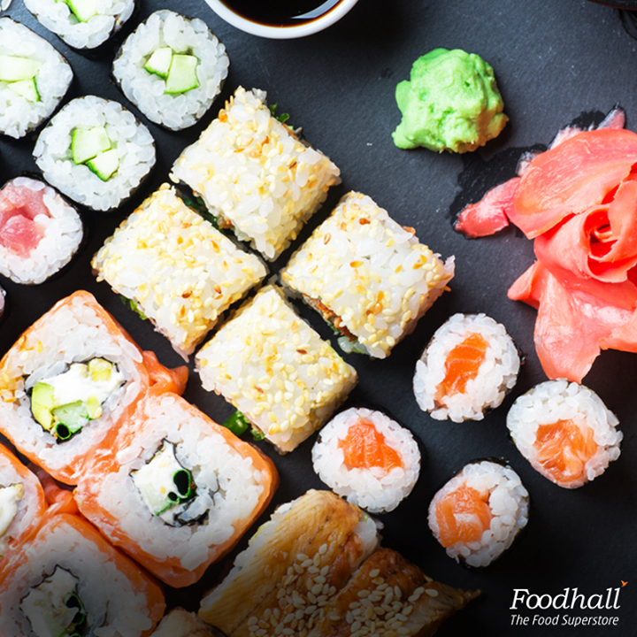 Great ingredients make great food! Layer sushi rice from Traditions by Foodhall on a nori sheet and add fillings of your choice like avocado, cucumber, salmon or tuna. Roll firmly, cut into equal pieces and serve it with pickled ginger, soy sauce and wasabi.