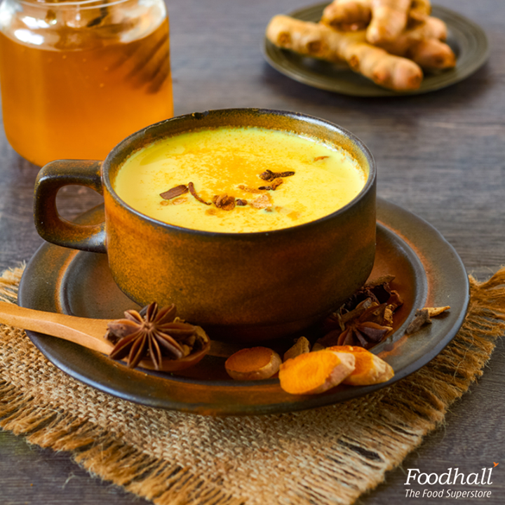 Walk into our store to try one of the healthiest drinks this monsoon, Golden milk - an immune-boosting popular beverage made of milk, turmeric, spices and honey.