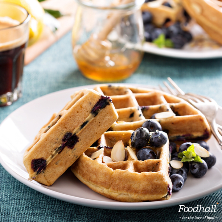 Your Sunday brunch menu just got delicious!  Simply pour our ready-to-make waffle batter in a hot waffle iron, cook until golden brown and top it off with a generous helping of honey, almonds, berries and enjoy your weekend mornings.