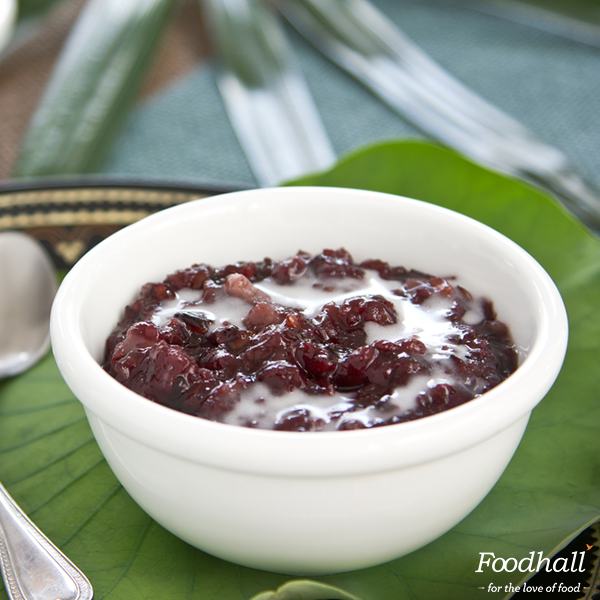 Ten minutes is all it takes to bring this dairy-free black rice pudding to the table. Bring black rice, salt and water to a boil; stir in 1 can of coconut milk and ½ cup sugar; simmer until mixture is thick & rice is chewy. Cool down completely and drizzle coconut milk before serving.