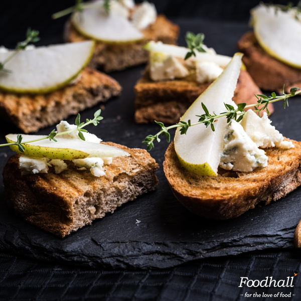 Originating in the region of Lombardy, sharp-flavoured blue cheese tastes great when crumbled over crostini with sliced pears. It's simple and downright delicious.