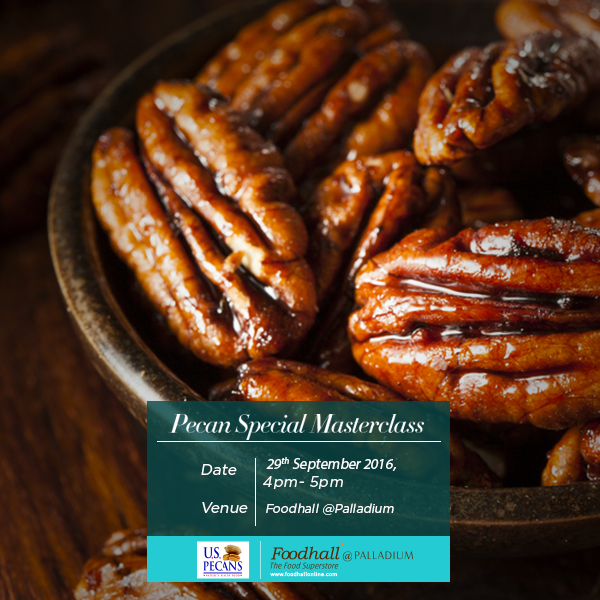 Join us for a masterclass on 29th Sept to explore new ways to include pecans in your diet!