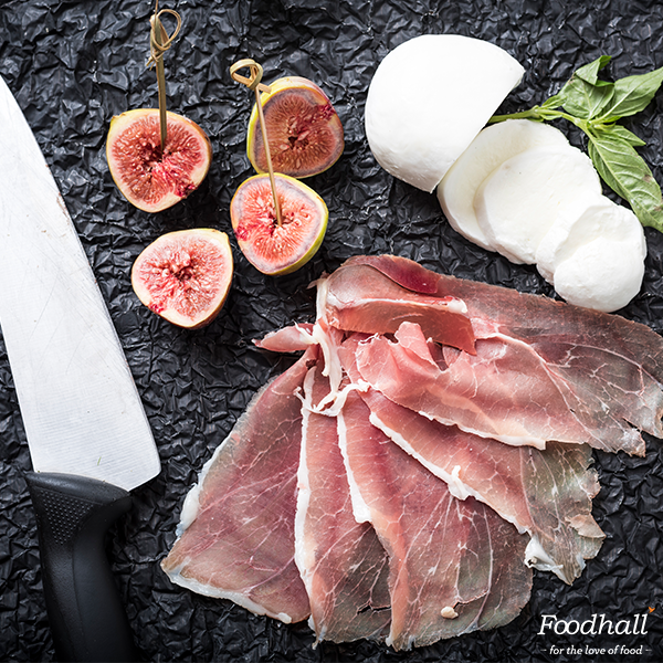 Every once in a while, sweet & savoury come together to make a heavenly combination!  Parma ham, an Italian dry-cured meat, is usually thinly sliced & served uncooked and we've discovered the winning combination of parma ham, figs & buffalo mozzarella. These do well in salads, appetizers and on pizzas too! How will you be trying it?