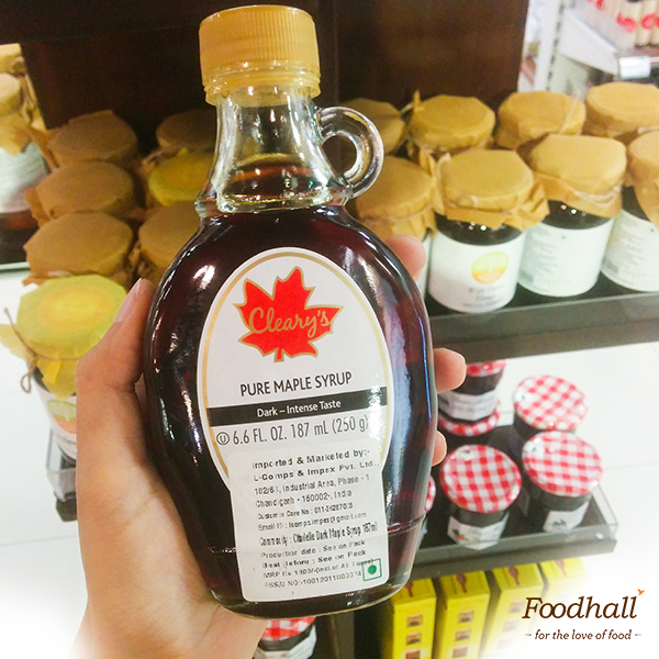This sweet-looking bottle is sweeter on the inside. Cleary's pure maple syrup is now sitting pretty on our shelves – all the way from Quebec, the top-ranking syrup producer in the world. Get a bottle and drizzle away on hot pancakes & waffles to make breakfasts more special than they already are.