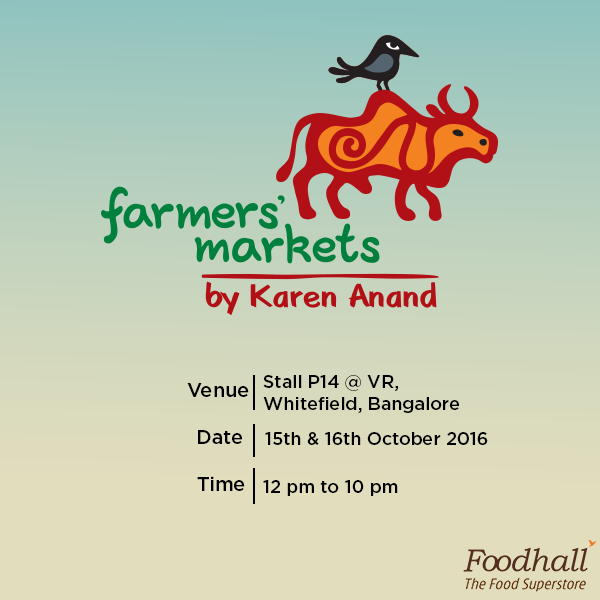 We're a part of the Bengaluru Farmers' market - welcoming everyone from chefs and restaurateurs to passionate foodies! Come visit us - for the love of food. Details below.