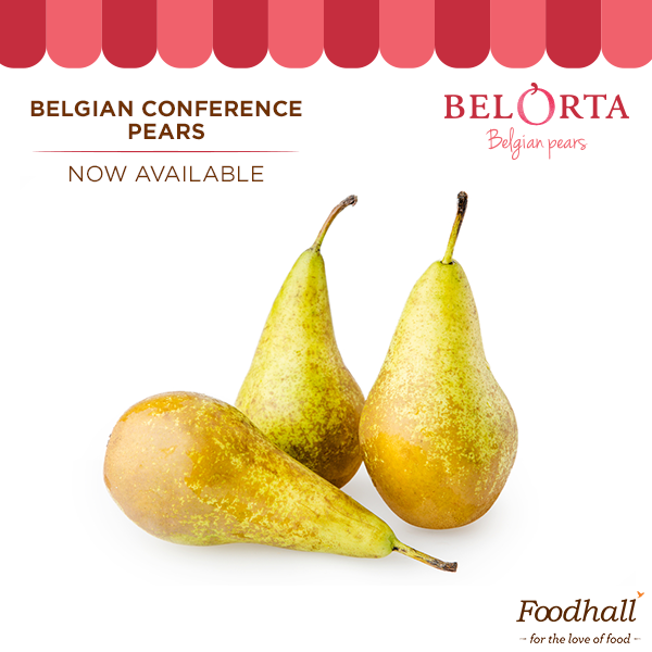 Attention foodies! Belgian Conference Pears by BelOrta have just launched in India and are available at our stores! These are the most popular variety all over the world and boast of a finer flavour than regular pears. Pick some up from our stores today!