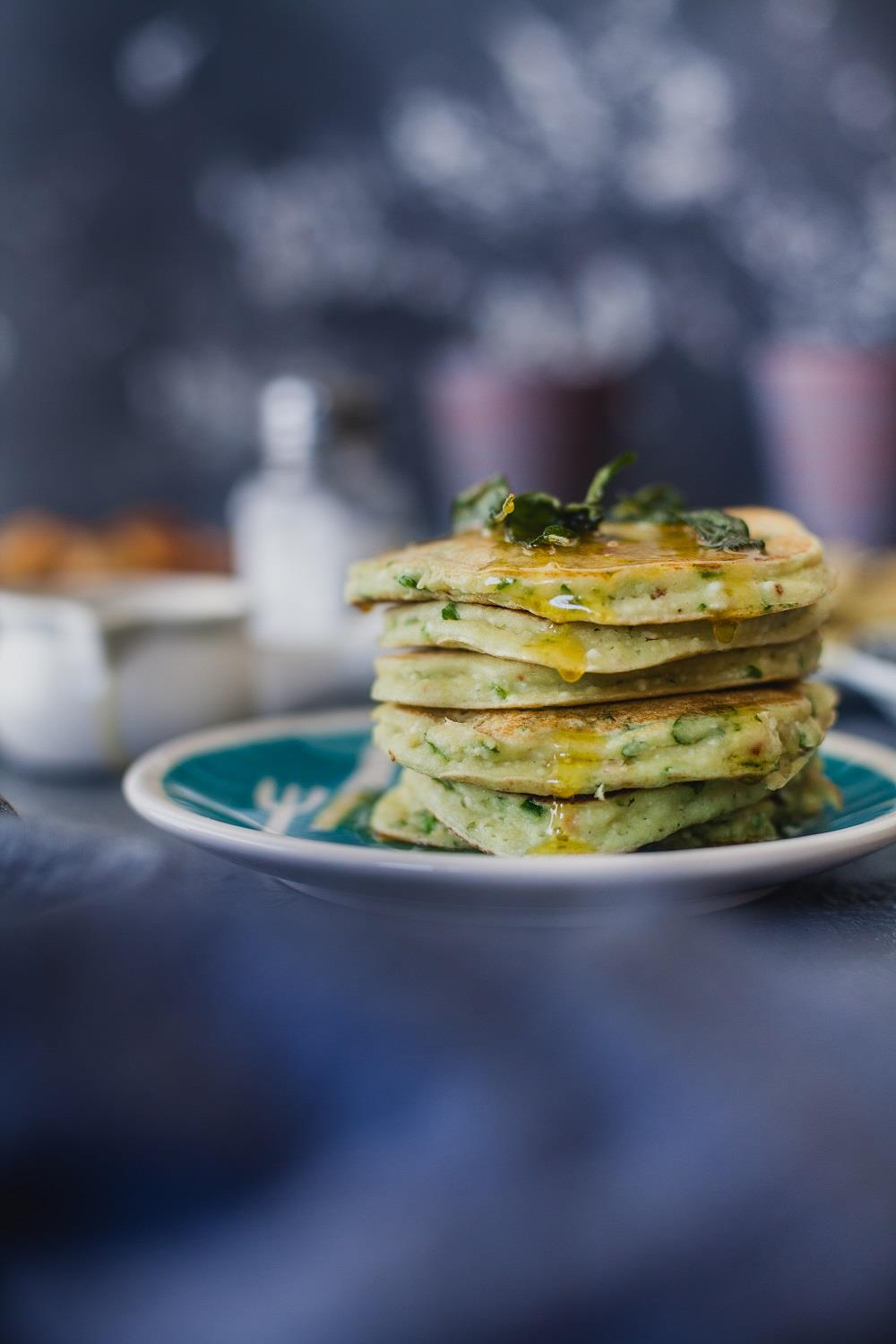 Add an unconventional twist to the good old fashioned pancakes with spinach and ricotta. Kankana Saxena of Playful Cooking shares her simple and enjoyable breakfast recipe.