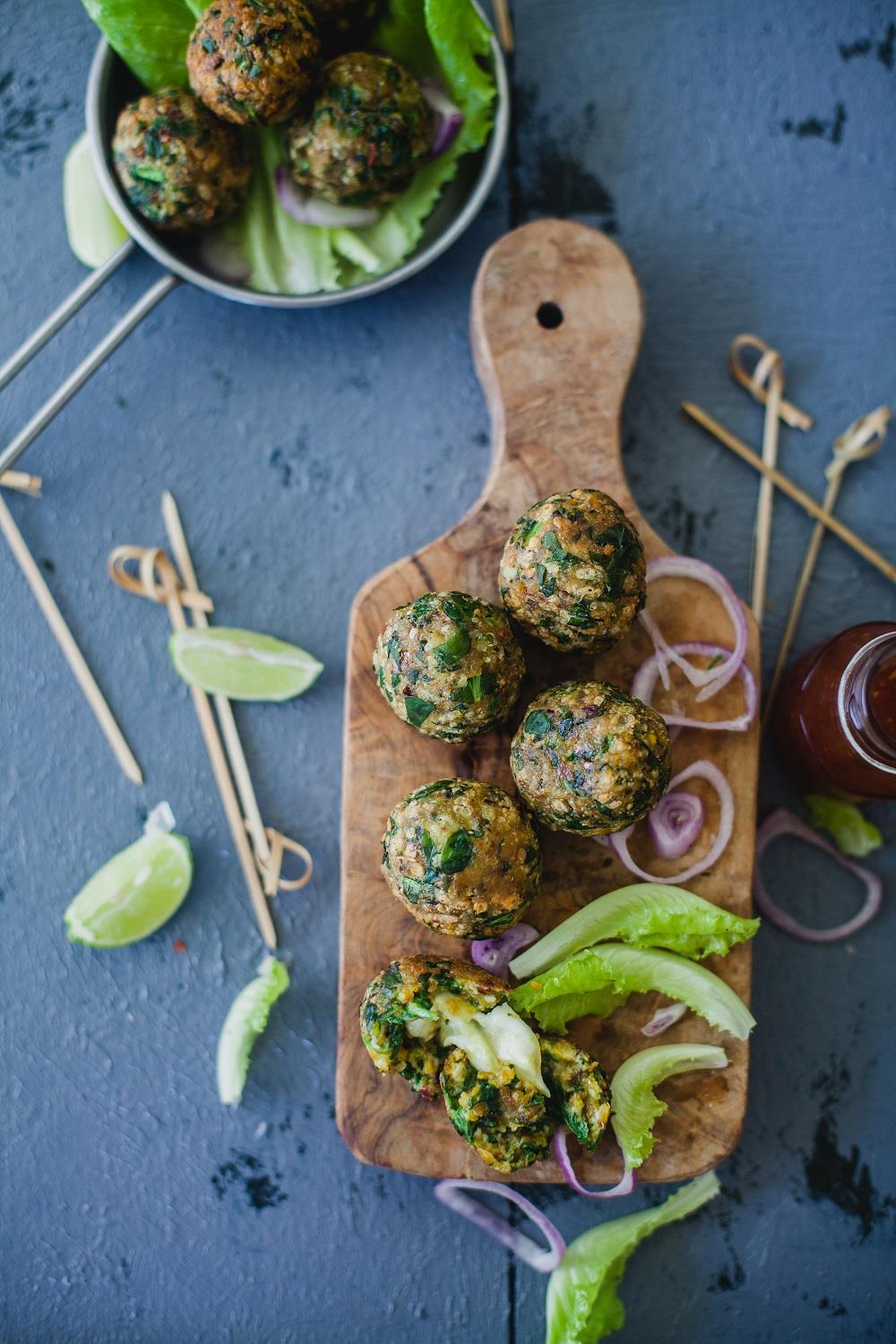 Whip up a delicious, hot #snack for your family using ingredients sitting in your pantry. Try this Spinach Cheese Balls #recipe by @playfulcooking which will surely have your loved ones asking for more!