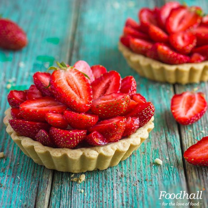 We're continuing the celebration of our current favourite: Freshly-made tarts with gorgeous strawberries – make the most of them while they're still in season! Get them from the patisserie section at our stores.