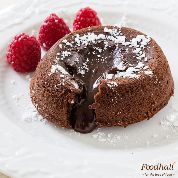 Satisfy your sweet cravings with warm Chocolate Fondant & a side of berries - we just can't get enough of the rich, gooey #dessert! Want some? Get it from our stores before it's gone!