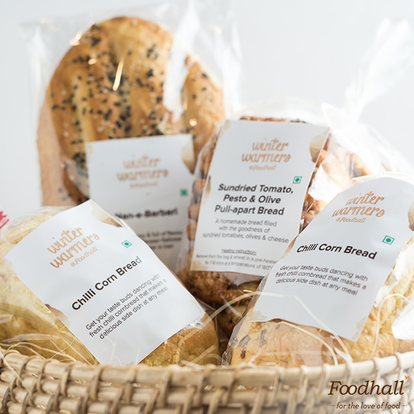 Our breads are made fresh at our stores every day with the freshest ingredients. We have taken things up a notch with new additions to our bakery section:  1. Persian Flatbread Nan-e-Barbari 2. Sundried Tomato, Pesto & Olive Pull-apart Bread 3. Cheesy Garlic Pull-apart Bread 4. Chilli Corn Bread  These make the perfect companions to soups & pastas – which one are you going to try?
