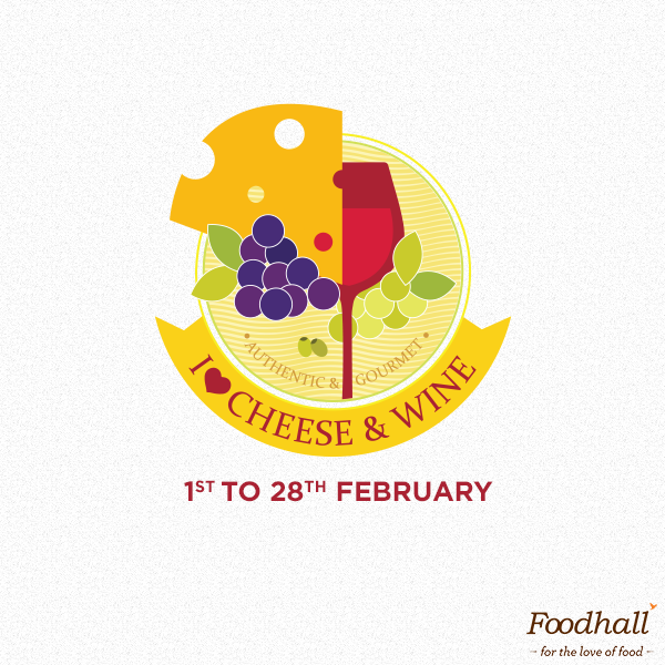 Say cheese (and #wine) at Foodhall, all through this month with a unique range from all over the world. Adding to their charm are some of India's best #cheese varieties & vegan cheese options too! So come join us - for the love of #food.