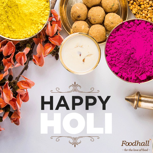 Here's wishing you a very #HappyHoli filled with colour and heart-warming food!