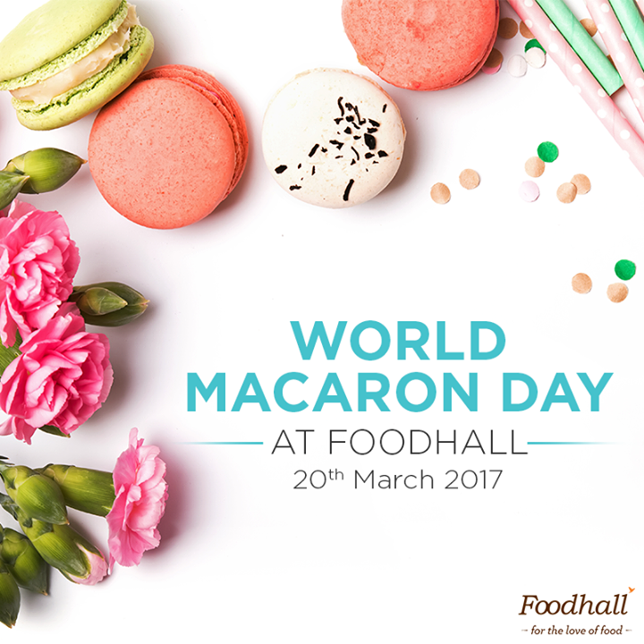 Pick a colour from the rainbow & we have it for you! Walk into our stores tomorrow to celebrate happy little macarons – you'll surely walk away with a box - maybe even two!