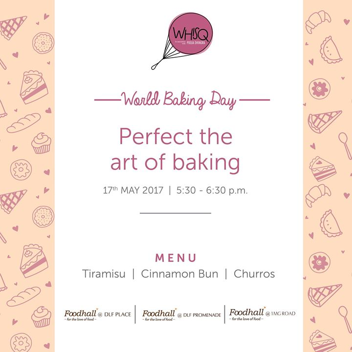 There is no better time than #WorldBakingDay to perfect the art of baking! Let us guide you through an evening filled with preparing an array of delectable desserts from around the world!  After all, Where there's a WhisQ there's a way.  Whisq India