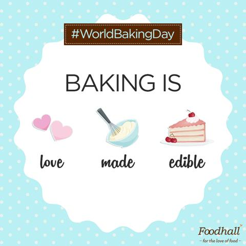 Happy #WorldBakingDay!  Whether you're a baker or a lover of all things baked, tell us what #baking means to you – in five words or less!
